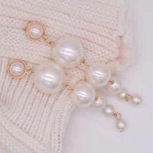 5 for $25 Long Faux Pearl Statement Earrings